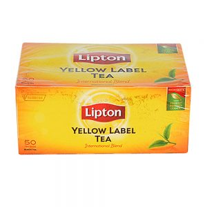 Черен чай липтън жълт етикет