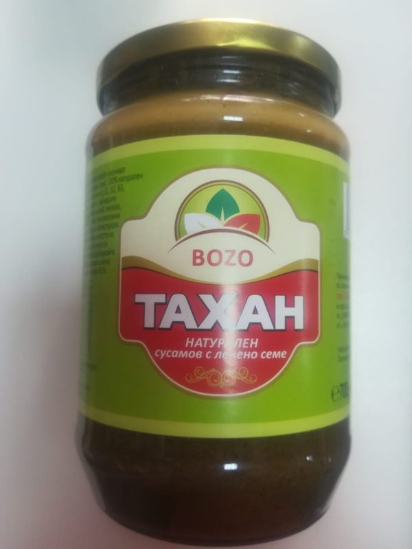 Тахан - натурален сусамов с ленено семе